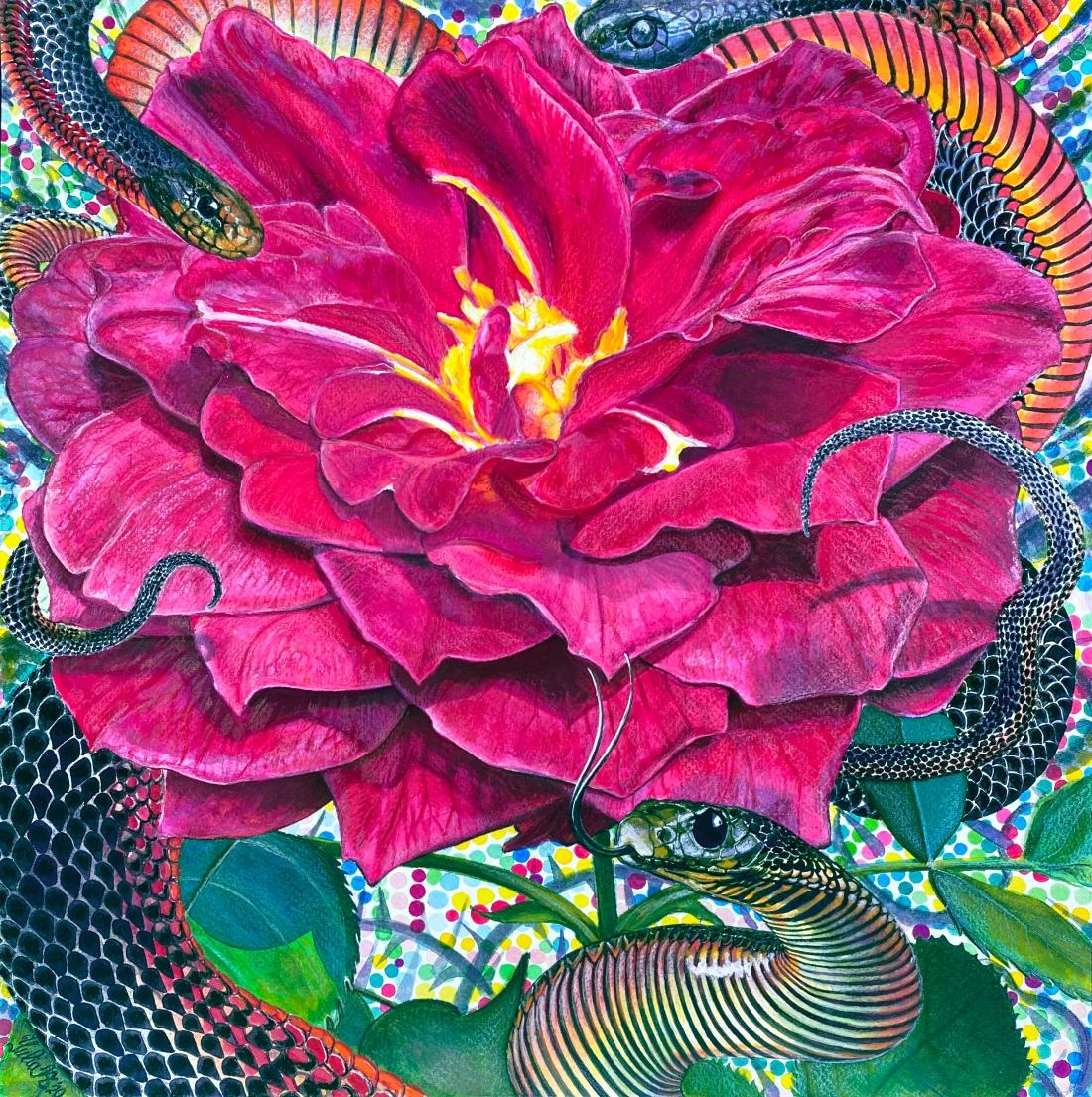 Flower Serpent Composition #1