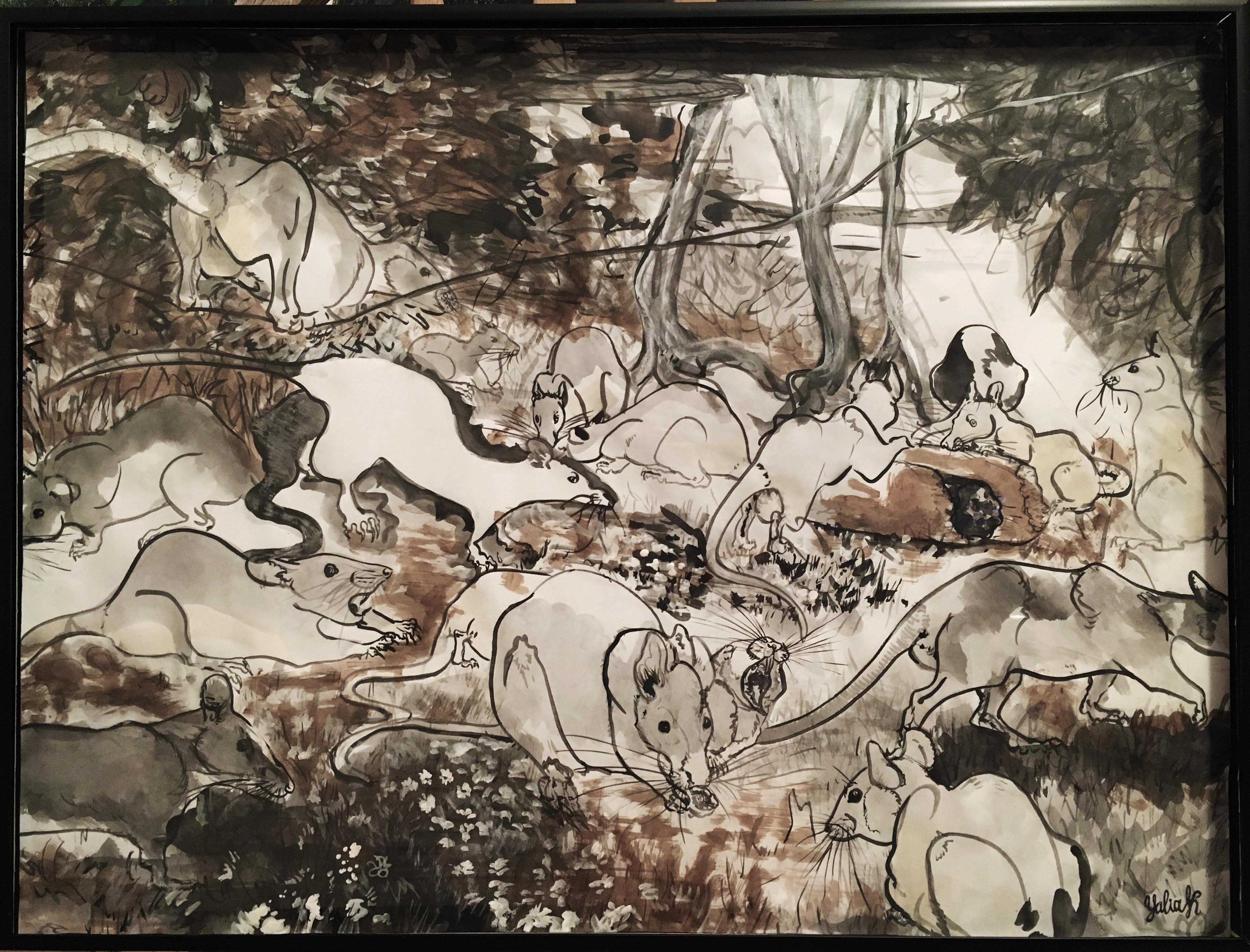 Rat Garden, 18 x 24