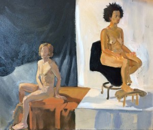 Figure study, oil on canvas. 2014