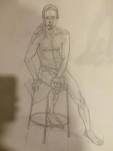 Human figure drawing.